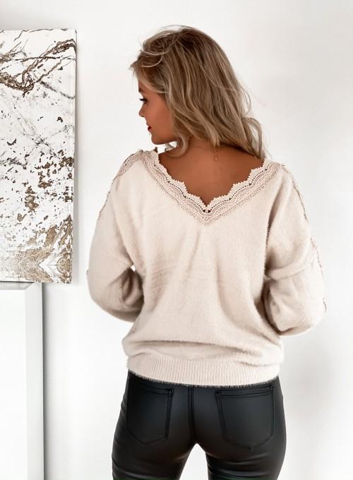 Sweter Gabi jasny beż 7