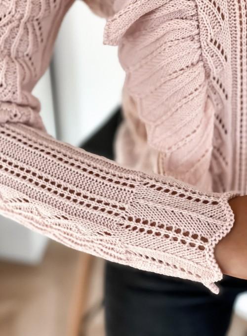 Sweter Zuzi pudrowy 3
