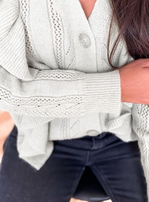 Rozpinany sweter Paola mięta 1