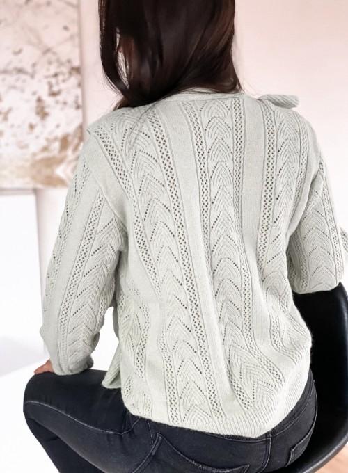 Rozpinany sweter Paola mięta 5