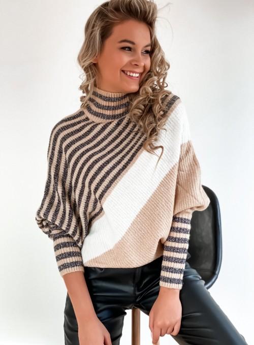 Sweter golf Megan beż 2