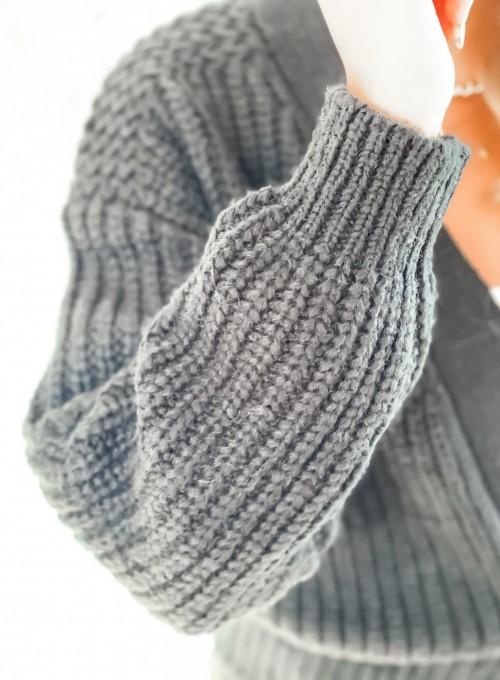 Wiązany sweter typu kardigan w kolorze czarnym 4