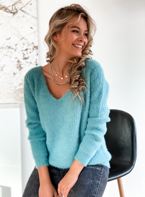 Sweter Feel miętowy 2