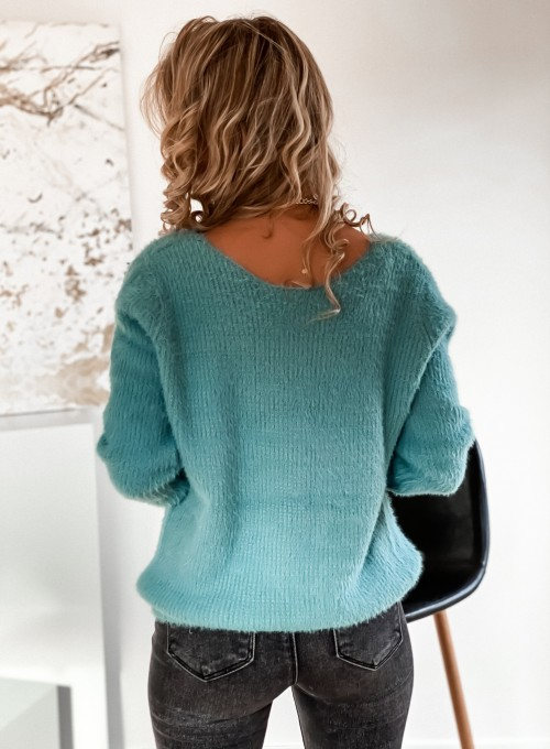 Sweter Feel miętowy 5