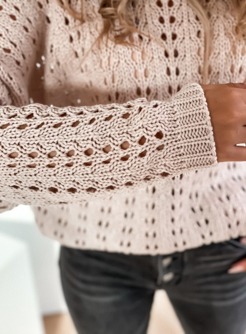 Sweter Karmen beżowy 5