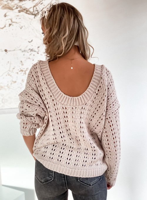Sweter Karmen beżowy 6