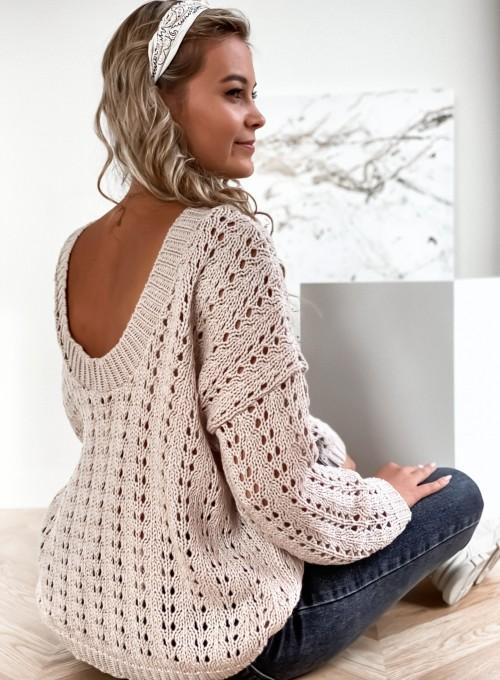 Sweter Karmen beżowy 7