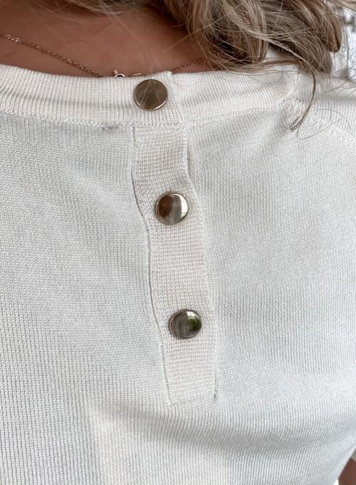 Bluzka Monica w kolorze śmietankowym 3