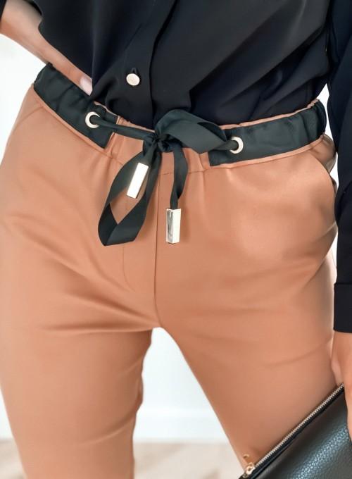 Spodnie Liverno camel 2