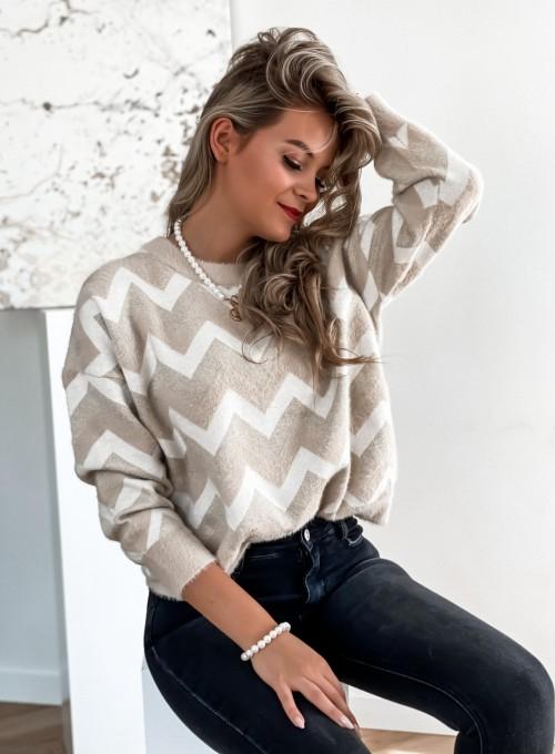 Sweter Debi beżowy