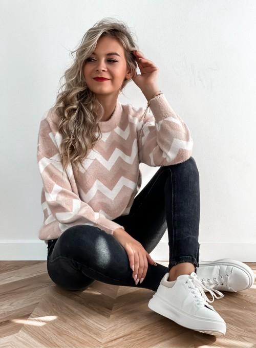 Sweter Debi pudrowy 1