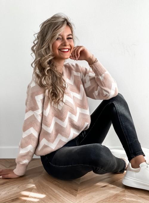 Sweter Debi pudrowy 3
