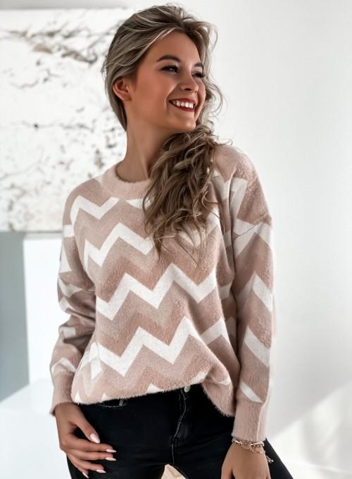 Sweter Debi pudrowy 2