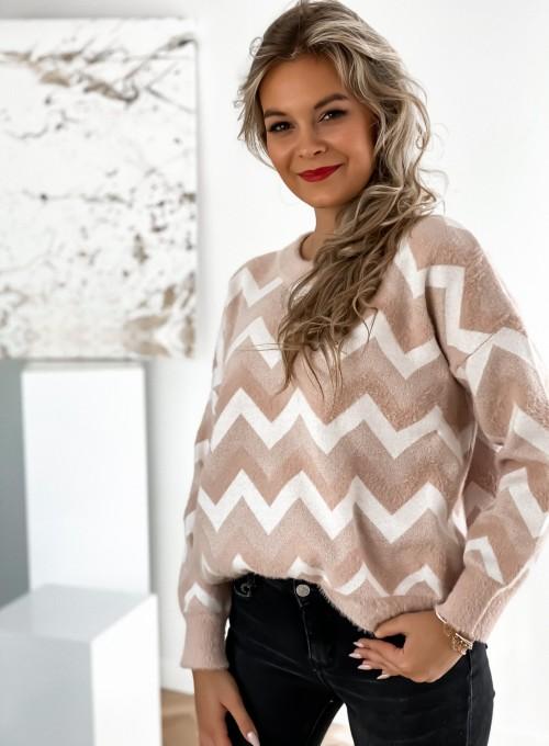 Sweter Debi pudrowy 4