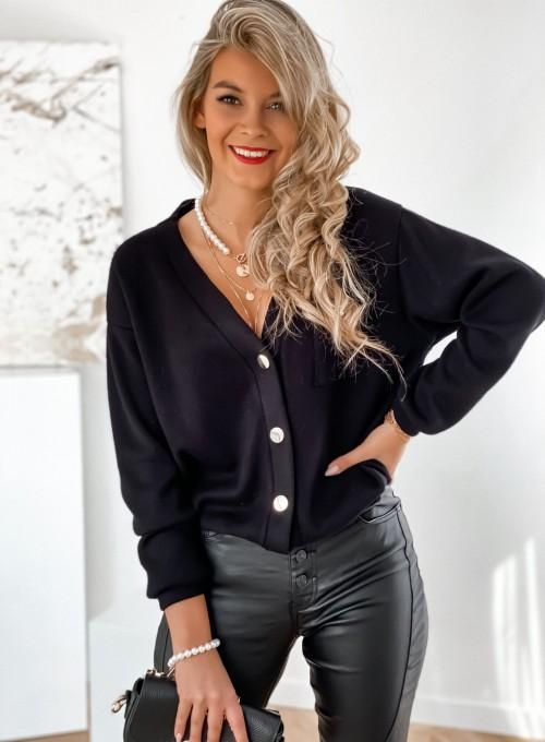 Sweter Daffi czarny