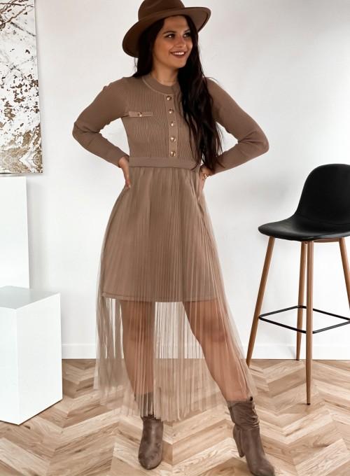 Sukienka Bonita beżowa 2