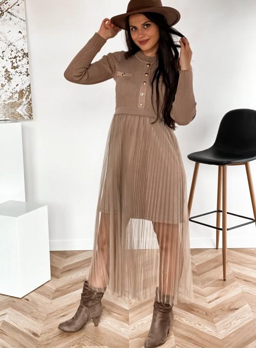 Sukienka Bonita beżowa 1