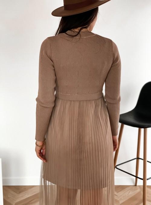 Sukienka Bonita beżowa 5