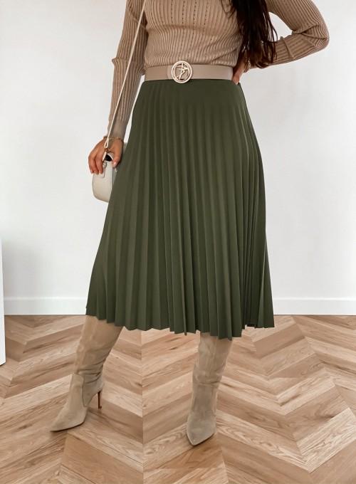 Spódnica plisowana Solerno khaki