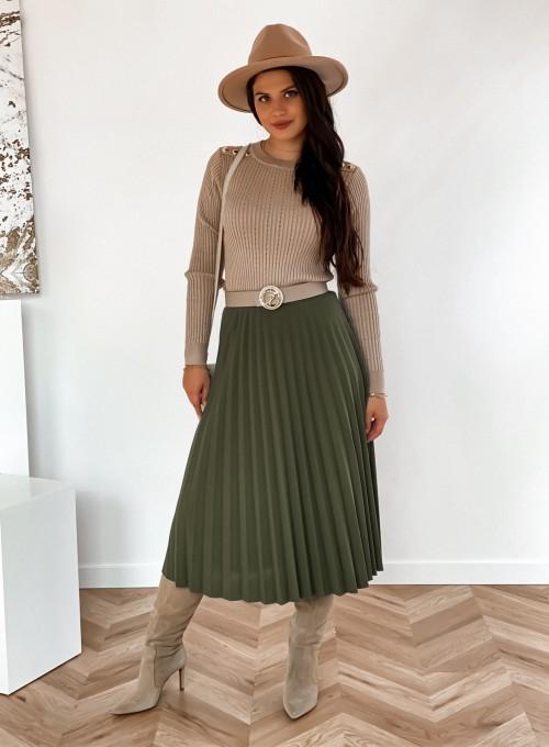 Spódnica plisowana Solerno khaki 1