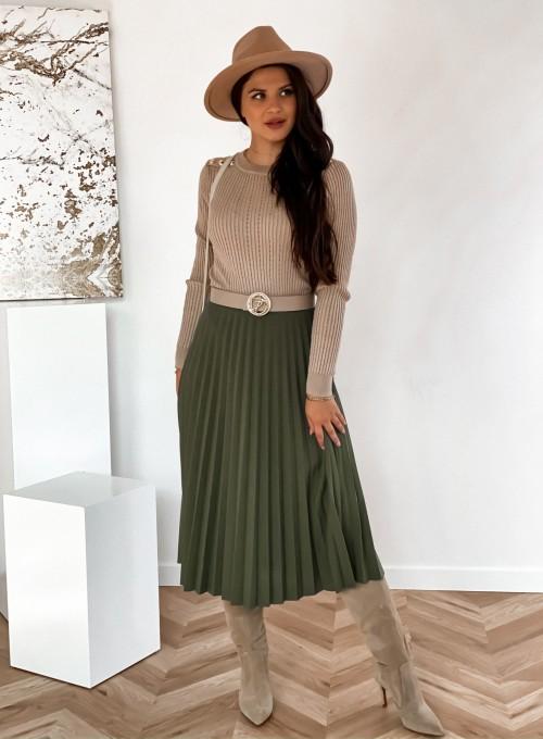 Spódnica plisowana Solerno khaki 2
