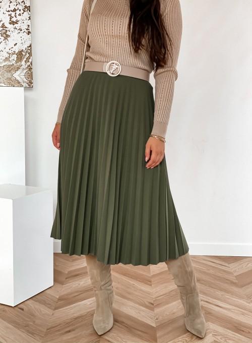 Spódnica plisowana Solerno khaki 3