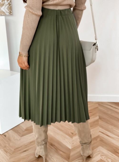 Spódnica plisowana Solerno khaki 4