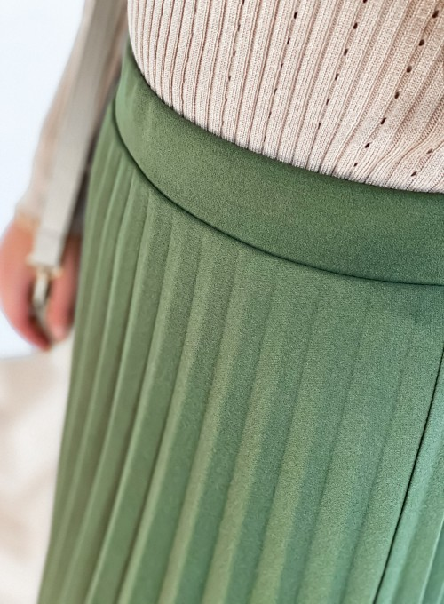 Spódnica plisowana Solerno khaki 5