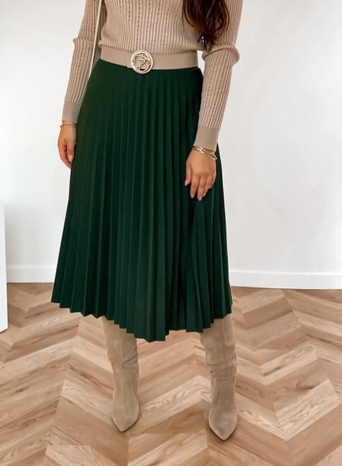 Spódnica plisowana Solerno butelkowa zieleń