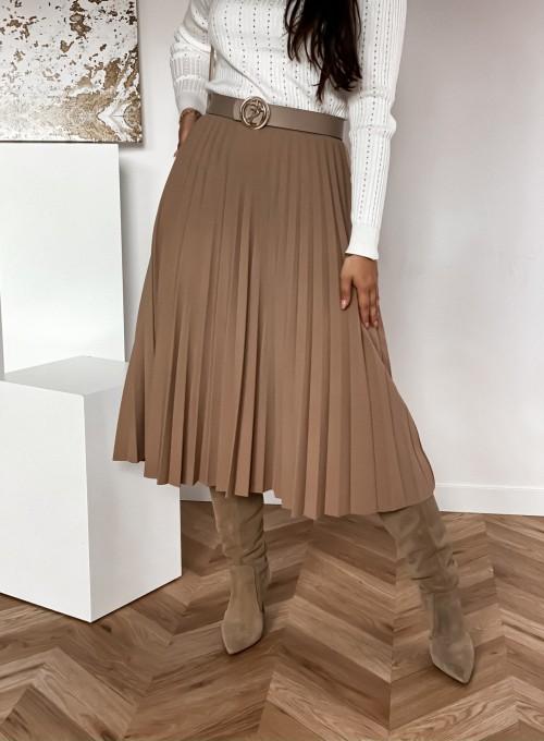 Spódnica plisowana Solerno beżowa