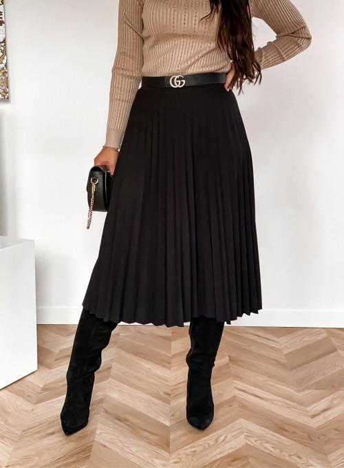 Spódnica plisowana Solerno czarna