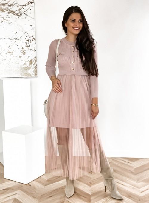 Sukienka Bonita pudrowa