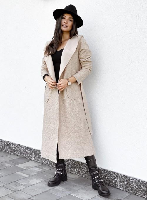 Płaszcz buklowy Lirene w kolorze beżowym 2
