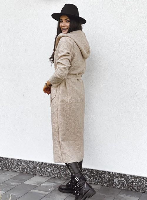 Płaszcz buklowy Lirene w kolorze beżowym 5
