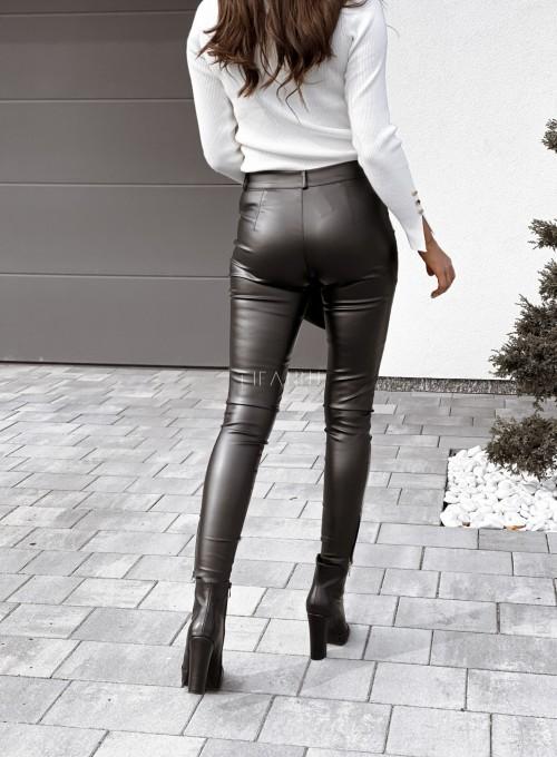 Spodnie woskowane Buttons czarne 4