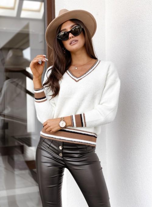 Sweter z dekoltem Miami