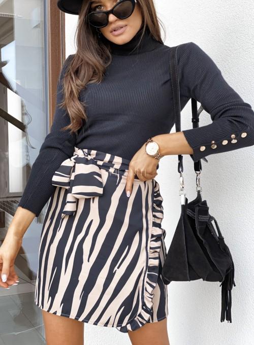 Spódnica Zebra wiązana w pasie