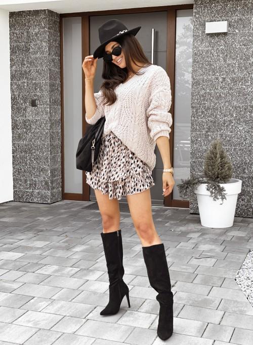Sweter z dekoltem Paulo ciepły beż 1