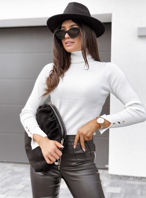 Sweterek Missy golf śmietankowy