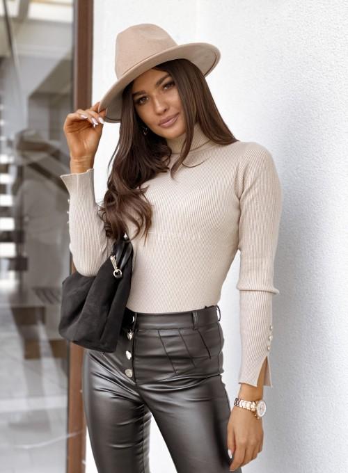 Sweterek Missy golf beżowy