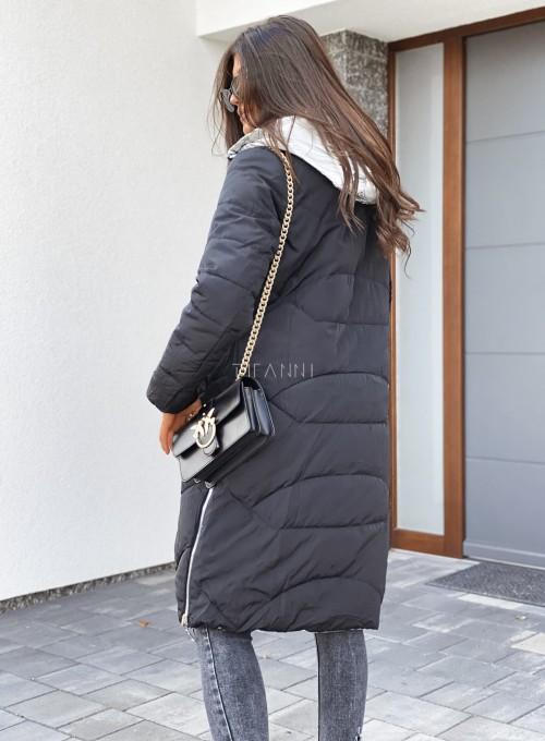 Kurtka płaszczyk czarno-srebrna 8