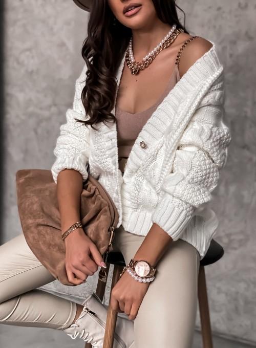 Sweter rozpinany Pango śmietankowy 2