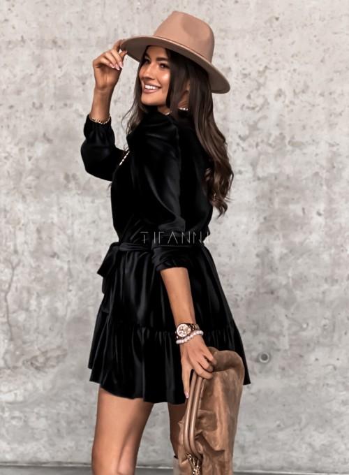 Welurowa czarna sukienka Princes 5