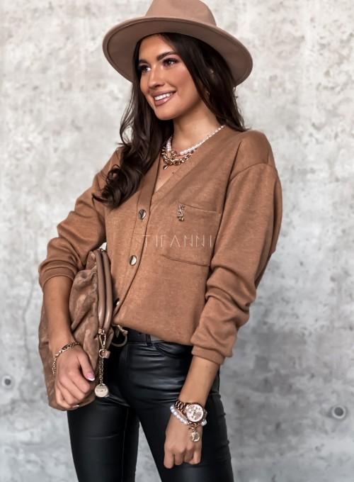 Sweter Daffi karmelowy