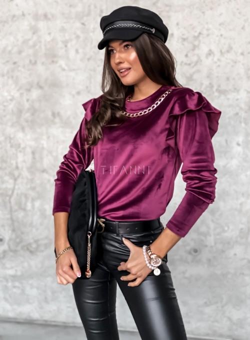 Welurowa bluzka Margo