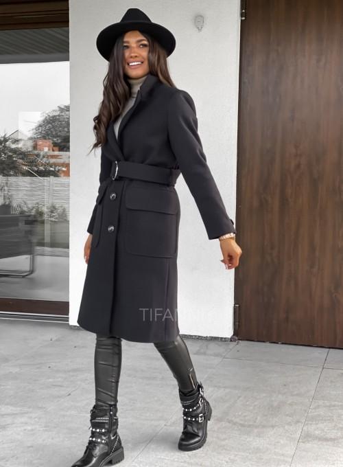 Płaszcz Polly w kolorze czarnym