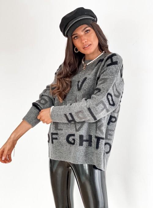 Sweter Telli szary 5