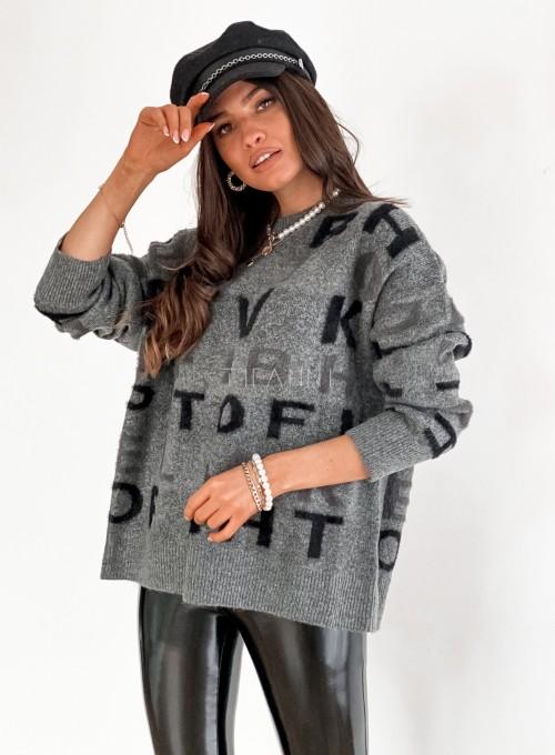 Sweter Telli szary 6