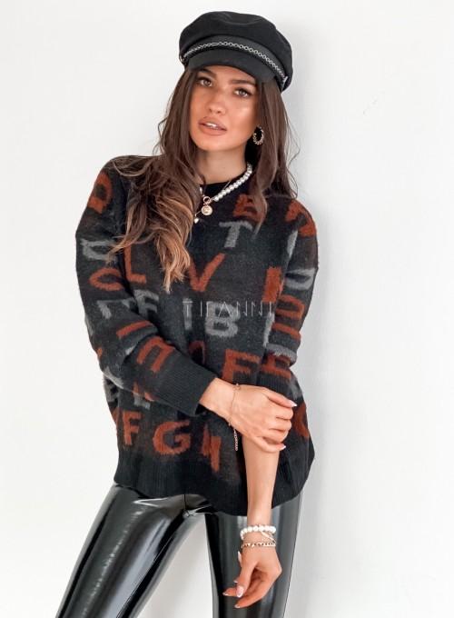Sweter Telli czarny