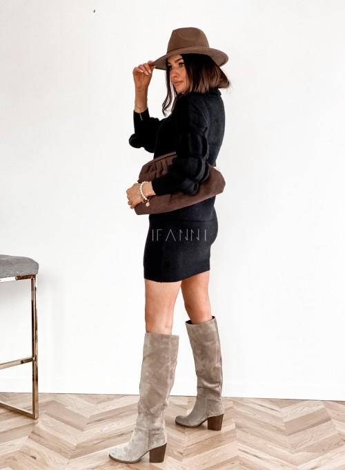 Sukienka swetrowa z golfem Alexa czarna 6